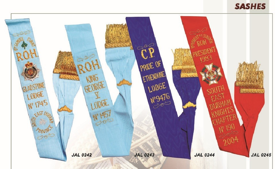 Masonic Regalia Sashes