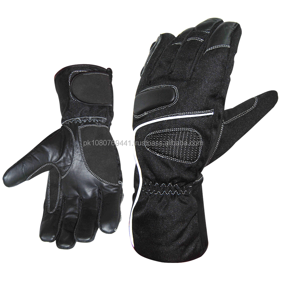 Women's Purple PU Leather Motocross Gloves/
