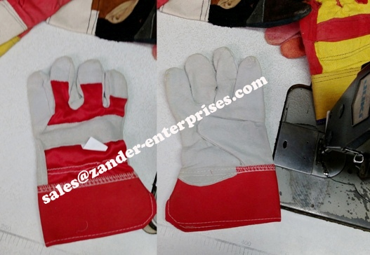 factory labour gloves cow leather working gloves