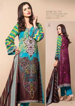 e1a9c51965 Three piece lawn salwar kameez suit 15 Batik lawn design no. 535/wholesale  salwar