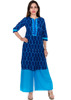 100% cotton Embroidered 3/4 sleeve Knee length lady Kurti wholesaler india