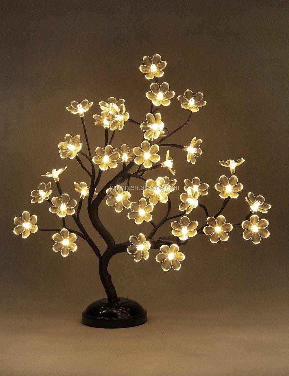 110 220v new led crystal cherry blossom tree lamp night - Mesa tower crystal ...