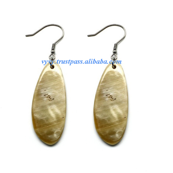 Buffalo horn jewelry, buffalo horn earrings VVE-187