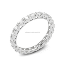Most fashion eternity 925 sterling silver wedding ring