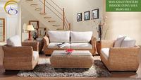 Water Hyacinth Interior Indoor Rattan Wicker Sofa Set arabic living room furniture