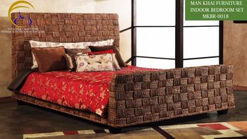 Houten Slaapkamer Meubels : Waterhyacint houten slaapkamer set meubels goedkope classic