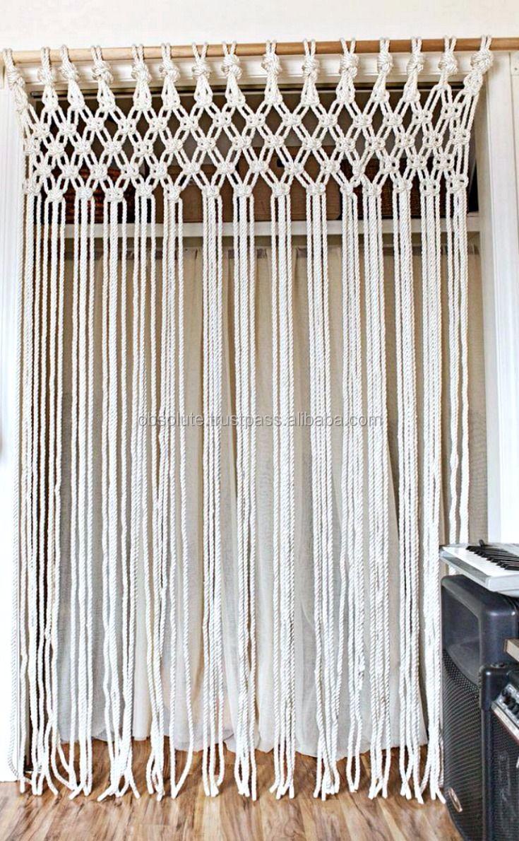 100 Organic Cotton Rope Handmade Macrame Curtain Hanging