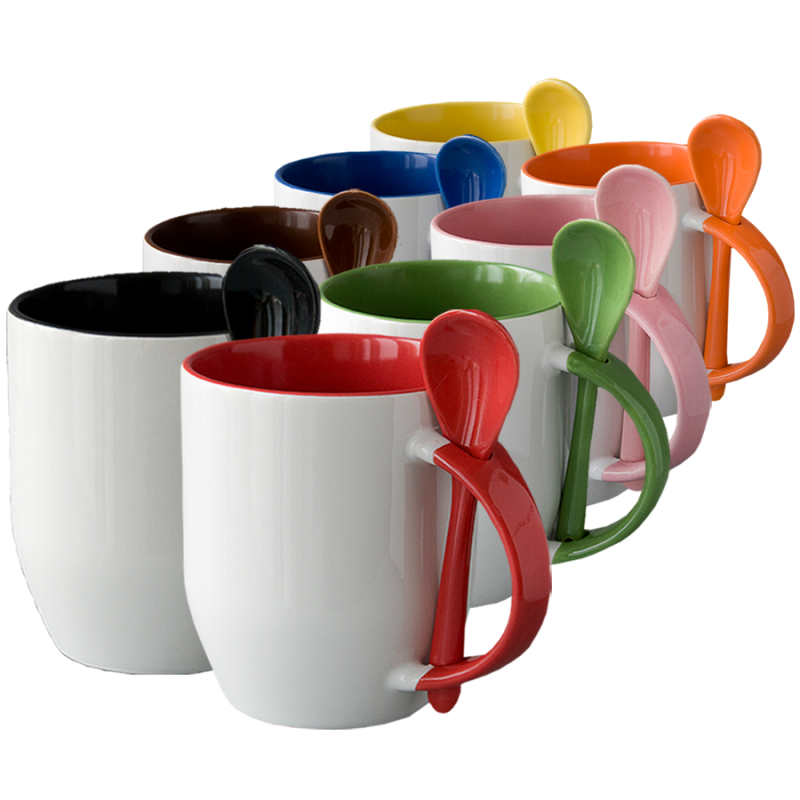 Spoon Sublimation Mugs - Buy Printable Sublimation Spoon Mug Product on  Alibaba com