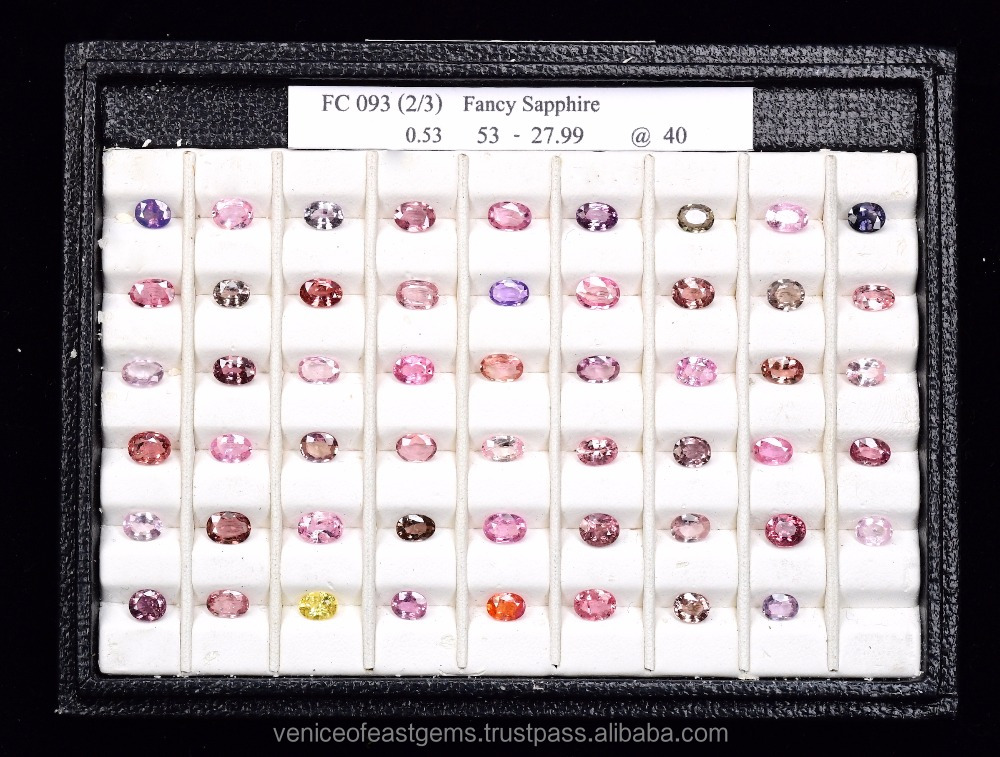 Beautiful Natural Yellow Sapphire, Pink Sapphire, Padparadscha sapphire and green sapphire at great quality from Bangkok