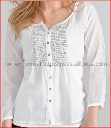 100% Viscose kurta blouse top tunics 2017