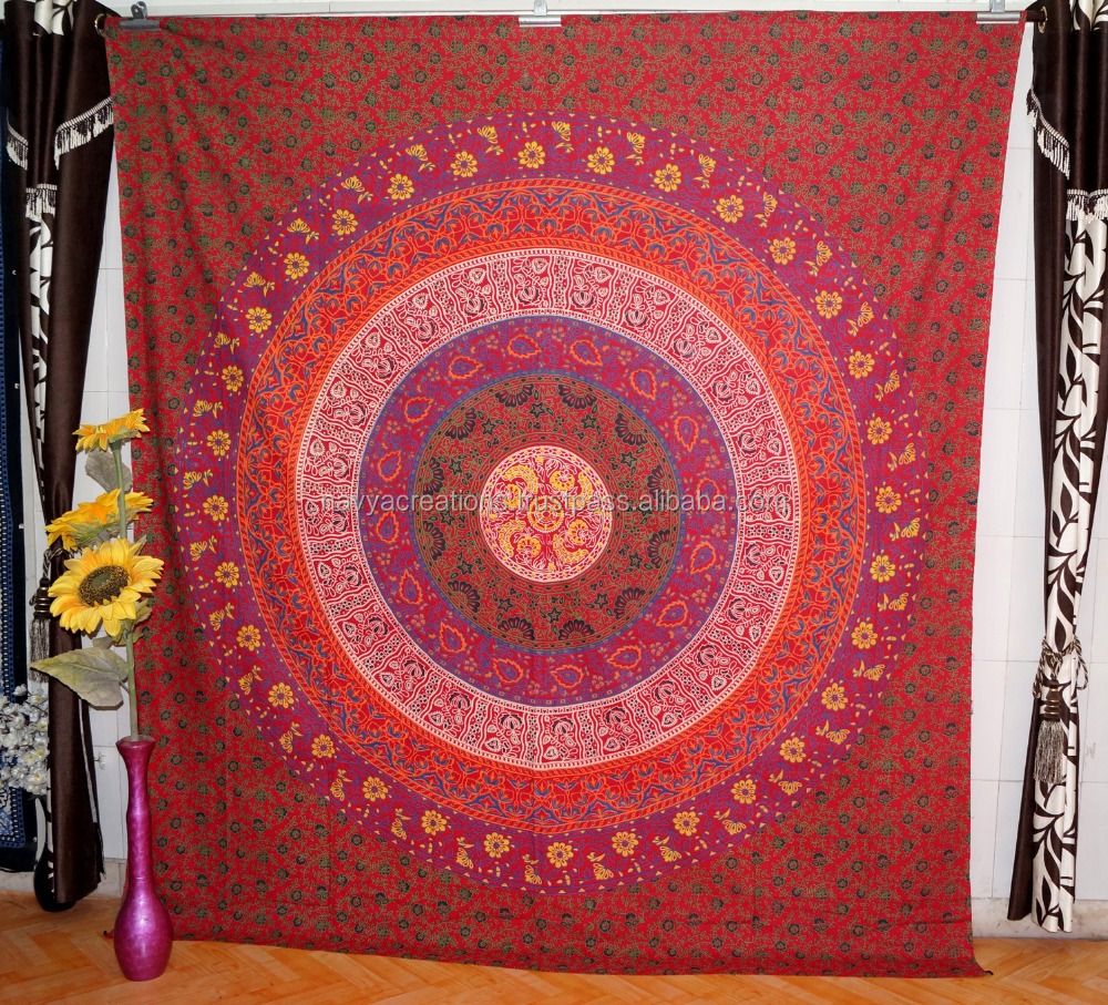 Ethnic Indian Tapestry Ombre Mandala Throw Large Hippie Wall Hanging Gypsy Home Decor Tapestry