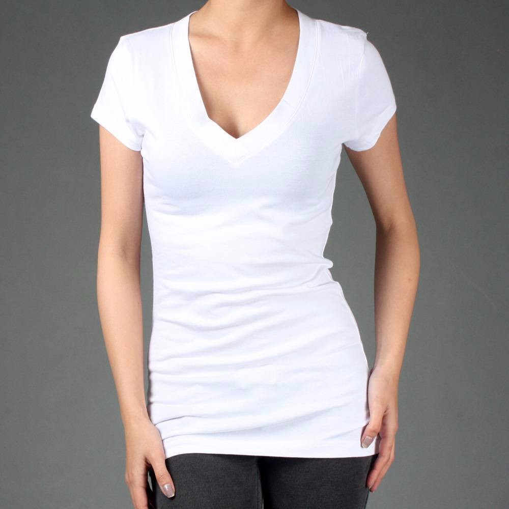100 cotton v neck womens printed t shirt wholesale buy for Womens tall v neck t shirts