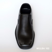 MULBA 102-Men Black PU Leather Formal Shoes