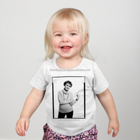 American Apparel Plain Baby Rib Short Sleeve Lap T Shirts for Kids