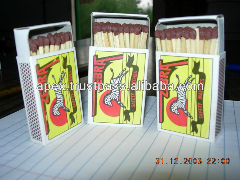 Wooden match sticks in a container