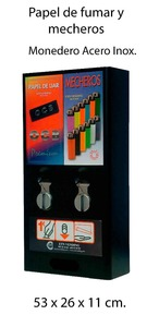 PAPER AND CIGARETTE LIGHTER VENDING MACHINE
