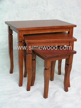 Solid Wood Nesting Tables Set,Coffee Tables,Side Tables   Buy Rubber Wood  Coffee Tables,Nesting Coffee Tables,Nesting Table Set Product On Alibaba.com