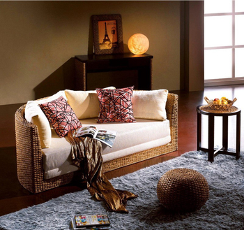 Astounding Half Round Living Room Combo Sofa Set Bed In Water Hyacinth Natural Fiber Made In Vietnam Buy Water Hyacinth Furniture Cheap Sofa Set Natural Fiber Machost Co Dining Chair Design Ideas Machostcouk