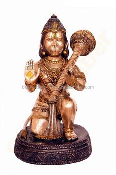 Monkey Face Lord Hanuman Ji Brass Metal Murti For Temple,Worship And Gift -  Buy Hindu God Murti,Hindu God Sculpture,Lord Hanuman Statues Product on