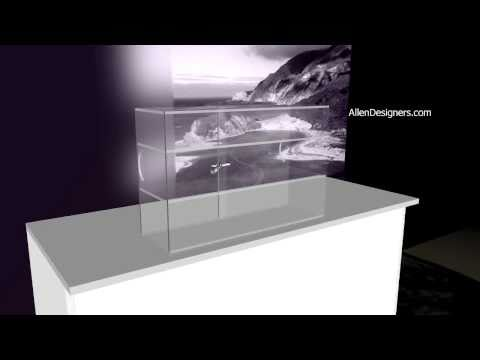Clear Acrylic Countertop Security Showcase