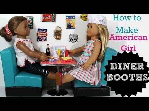 DIY American Girl Doll Diner Booths