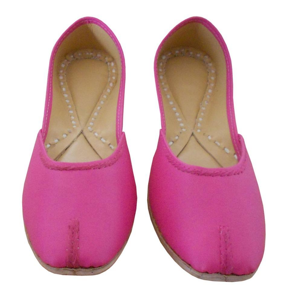 aa7a04f88e56a Indian Women Leather Shoes Pink Traditional Indian Handmade Mojari Jooti -  Buy Indian Women Juti Shoes Product on Alibaba.com