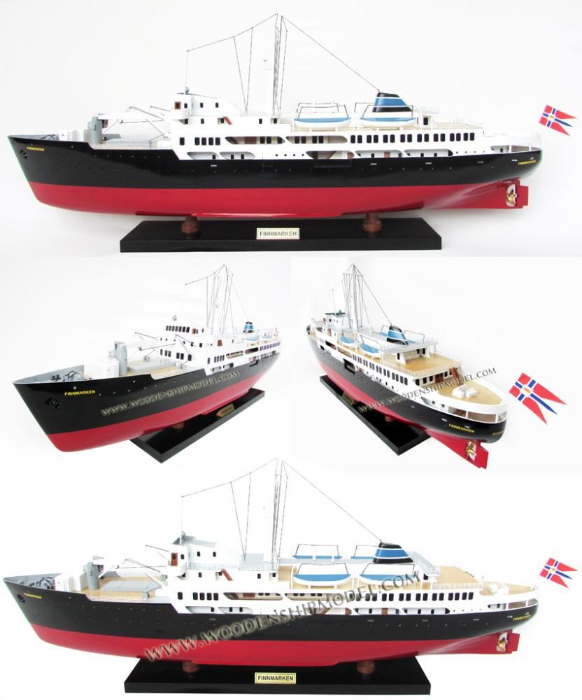 Ms Finnmarken 1956 Museum Ship Wood Craft Ship Model