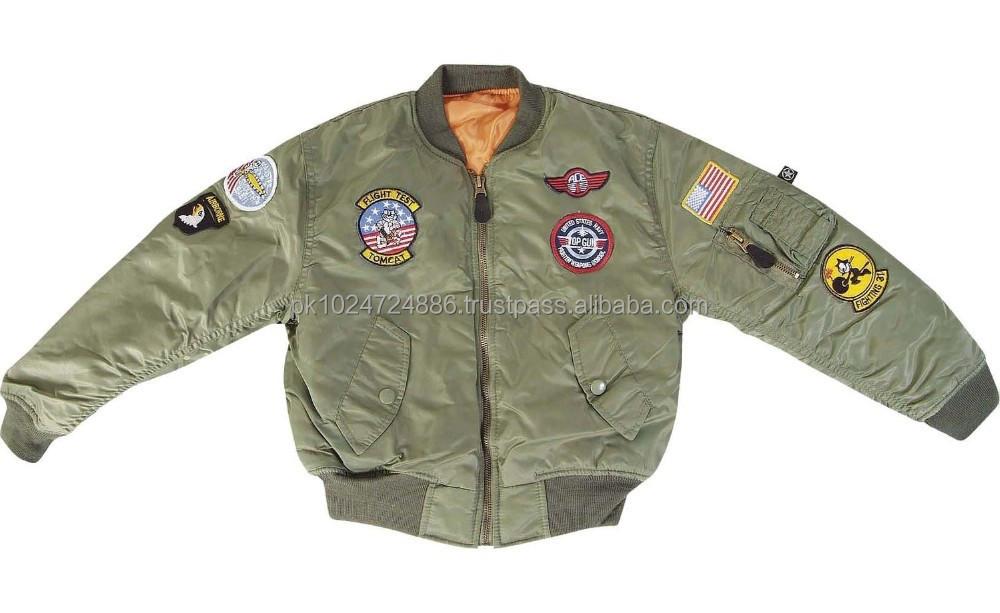 Custom Made Flight Jacket Bomber Jacket - Buy Custom Made Flight ...