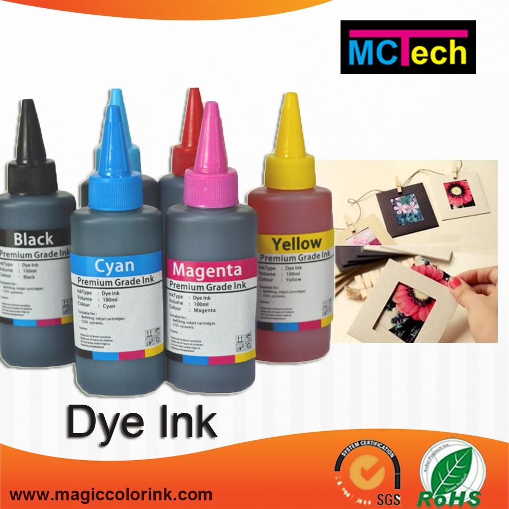 6 Color Bottle Ink Refill Dye For Epson L Series Uv Resistant Fast Print Black 100ml Based Photo Premium