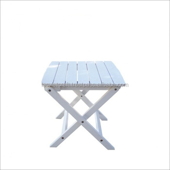 High Quality Best Selling Eco Friendly Wooden Folding Side Table From Viet  Nam