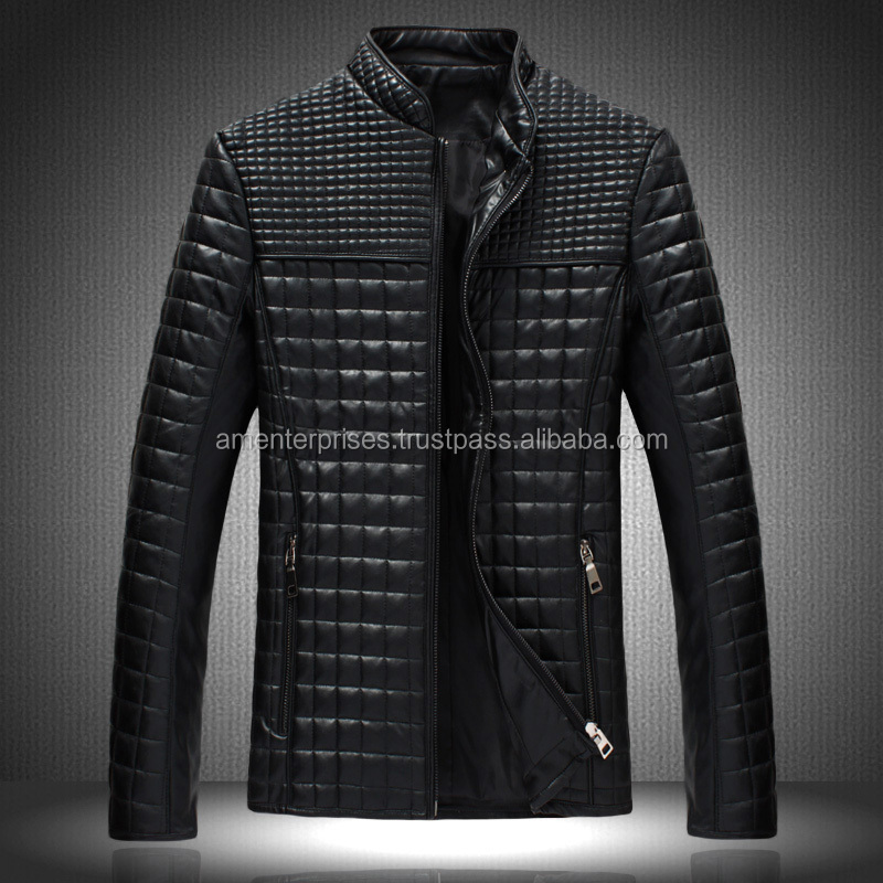 2016 Fashion With New Design Unisex Leather Jackets For Men Leather