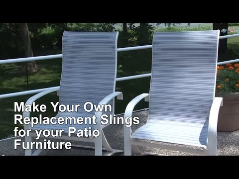 ... Replacement Sling Cover For Patio Furniture    Make Your Own