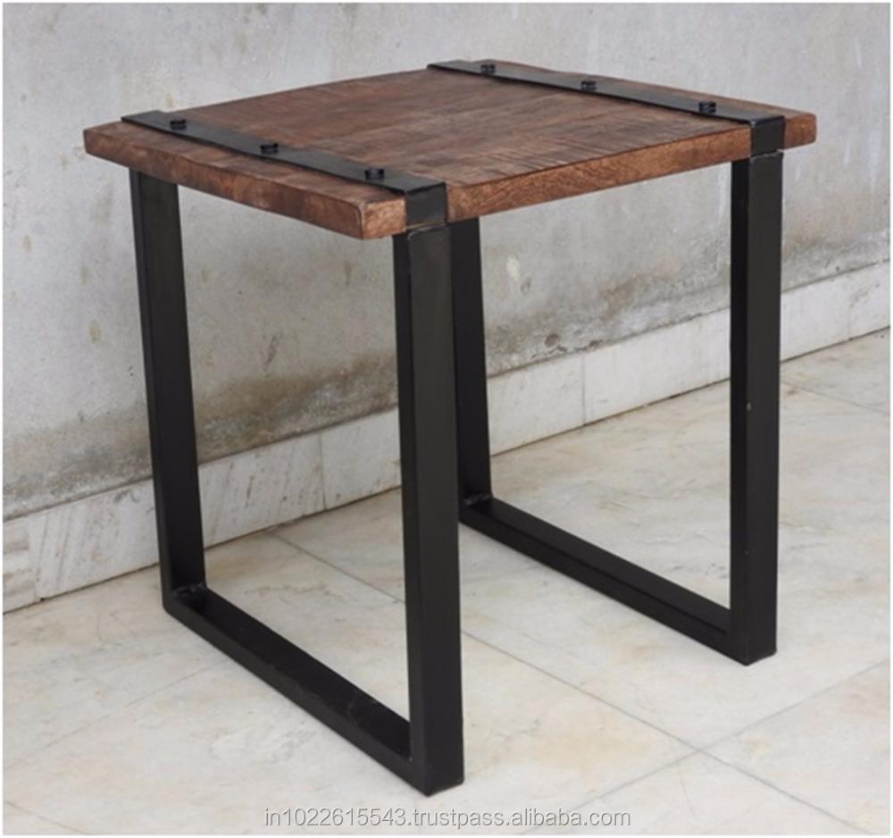 Metal mesa auxiliar industrial de muebles de poca otros - Muebles de epoca ...