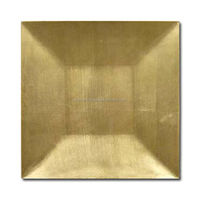 square shape brass plated charger plates