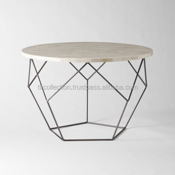 Oval Shape Hexagon Shape Big Center Table With Marble Top Black - Hexagon marble coffee table