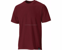Plain Red Maroon Shade Fit Body Round Neck Short Sleeve Cotton T Shirt
