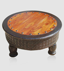 Antique Table Basse Ronde Sculpture Conception Fin Table Fabricant En Gros Fournisseur