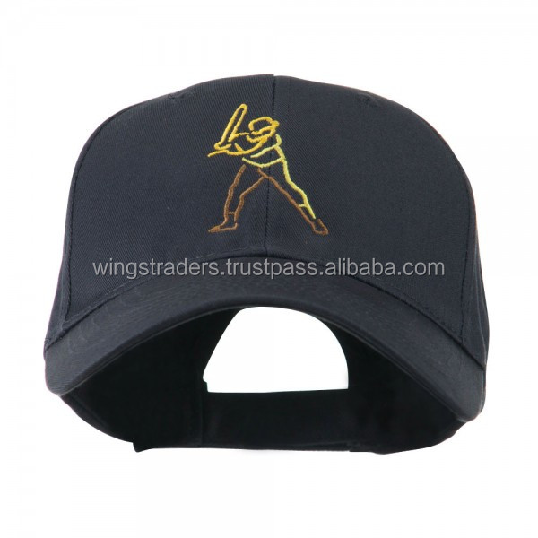 Men Baseball Outline Embroidered Navy Cap