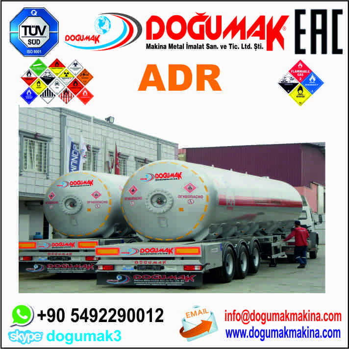 High quality 50m3 LPG SEMI TRAILER