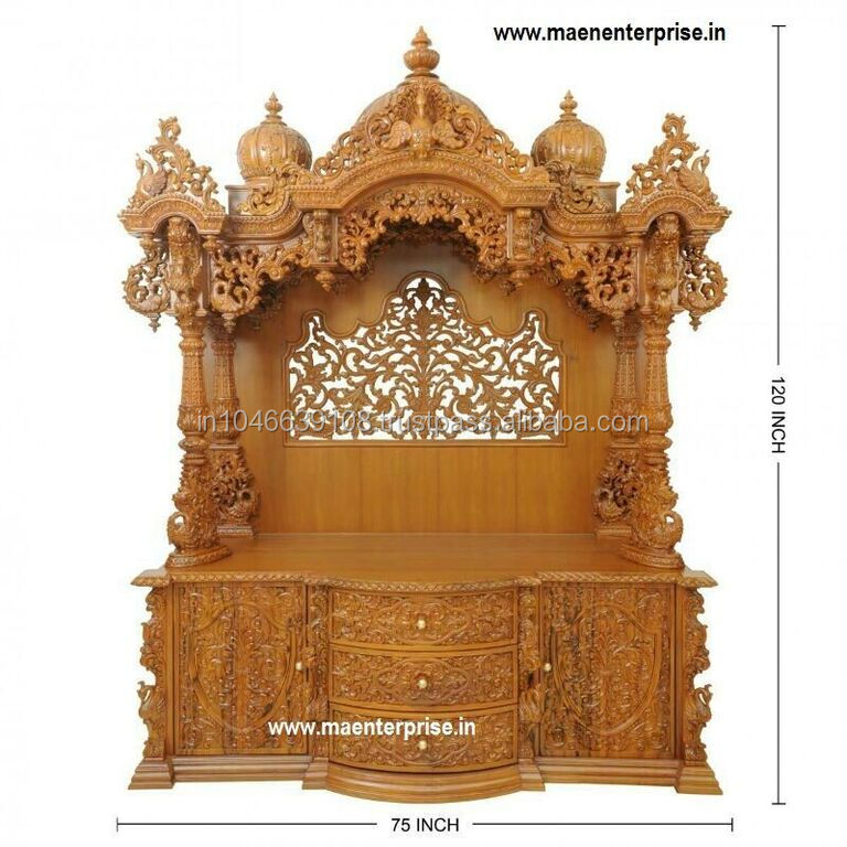 Big Wooden Temple Design For Home Decoration Buy Wooden Temple