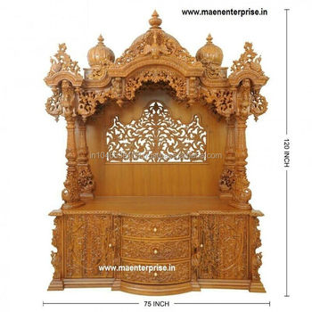 Genial Big Wooden Temple Design For Home Decoration Mandir