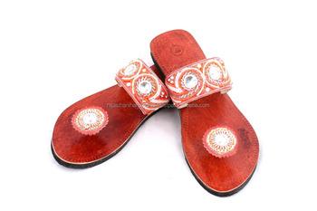 051d677a14854 Rh08 Women Leather Moroccan Style Handmade Sandal Slipper Indian Toe Strap  - Buy Rubber Slipper Straps,Leather Hat Straps,Leather Strap Cutter Product  ...