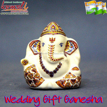 Iconic Hindu God Ganesh Statue Murti Idols Wedding Favor