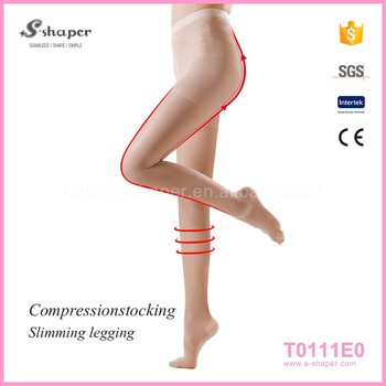 17d6cc2af Medical Compression Nylon Lycra Spandex Sleep Thin Weight Leg Pantyhose  Socks Stockings