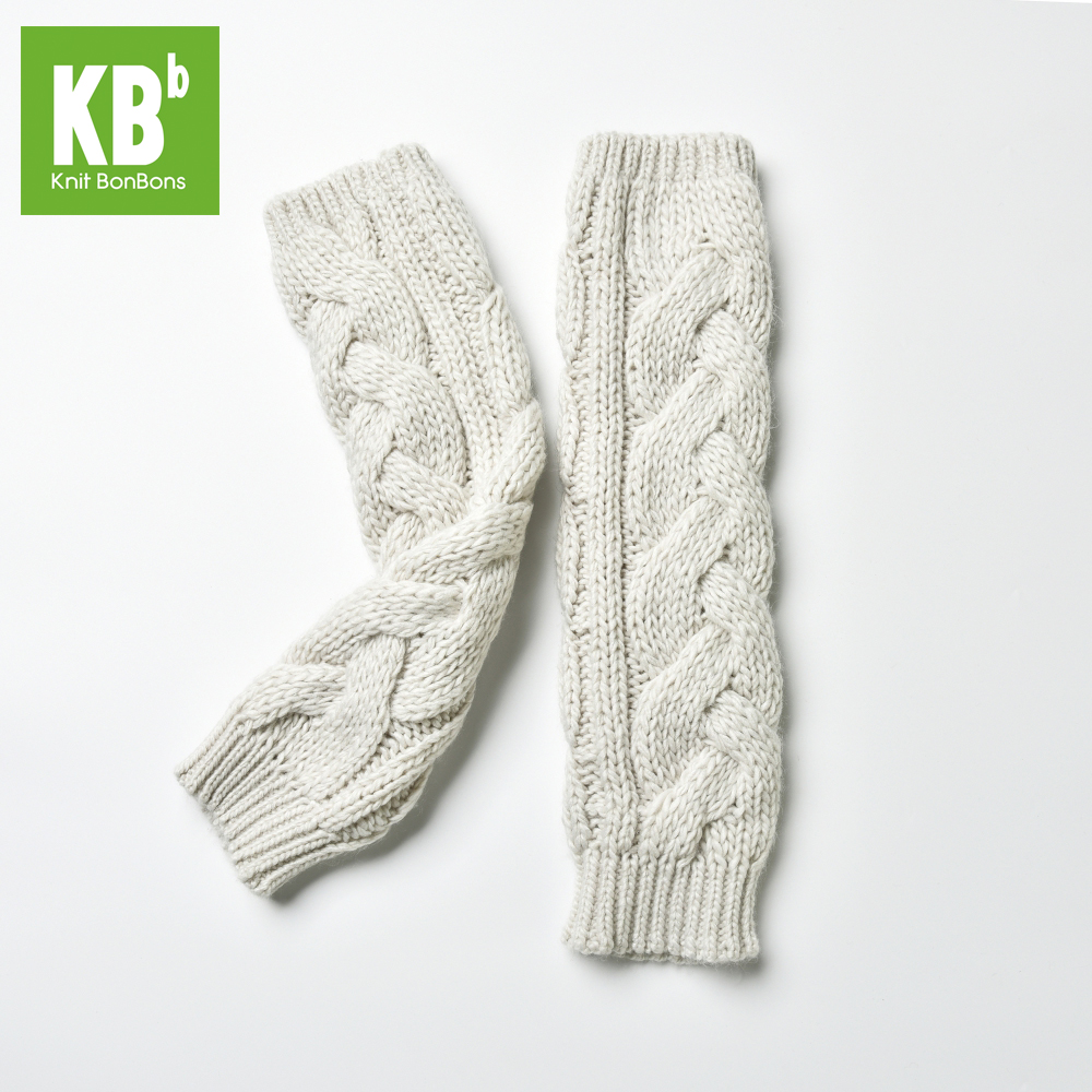 100% Acrylic Cable Winter Adult Knitted Arm Warmer