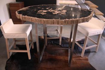 Tafel Versteend Hout : Unieke bar van versteend hout tafel indonesië exclusieve