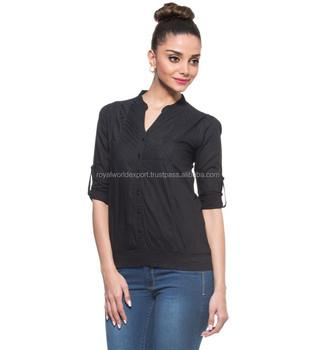 Black Diagonal Pleated Top Unique Design Ruffle Simple Party Dress Pleat Short