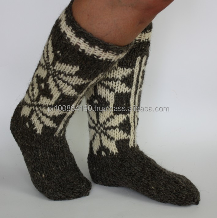 100% Wool SOCKS knitted NATURAL WARM