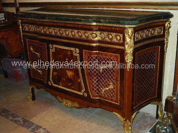 French Furniture Commode With Ormolu Antique Reproduction