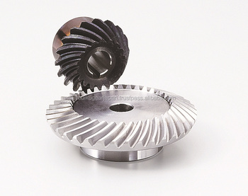 Hardened spiral bevel gear Module 2.5 Carbon steel Ratio 2 Made in Japan KG STOCK GEARS